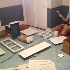 Priming & Painting Cupboard Doors