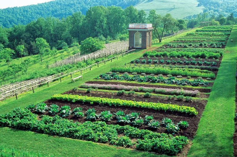 Small raised vegetable garden - Inspiring Garden Monticello A Farmhouse Reborn