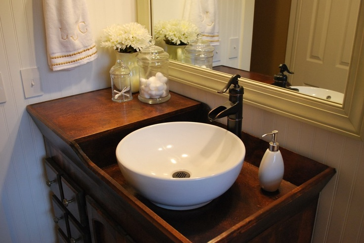 sweet sinks for bathroom. The above photo is from Pinterest  this awesome blog http lifeofsplendor com and I think the antique dry sink basin SO cool Bathroom Sinks A Farmhouse Reborn