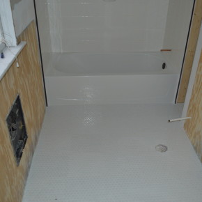White Hexagon Tile Floor