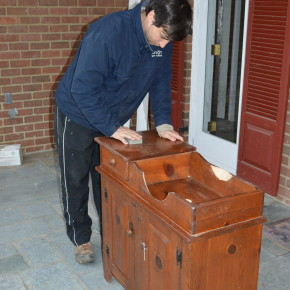 Turning Antique Dry Sink Basin Into A Sink