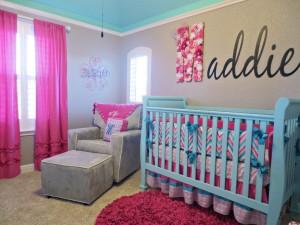 girl turquoise nursery