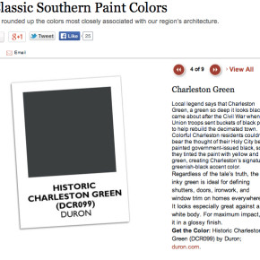 Charleston Green Inspiration: Colonial Williamsburg Paint