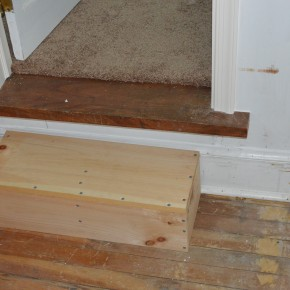 Making A Step for the Nursery Door