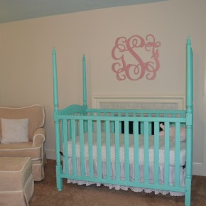 A Nursery Monogram for the Baby!