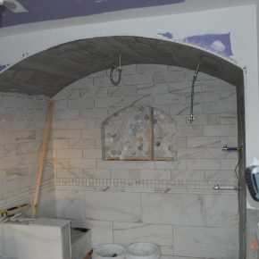 Tiling the Master Bathroom
